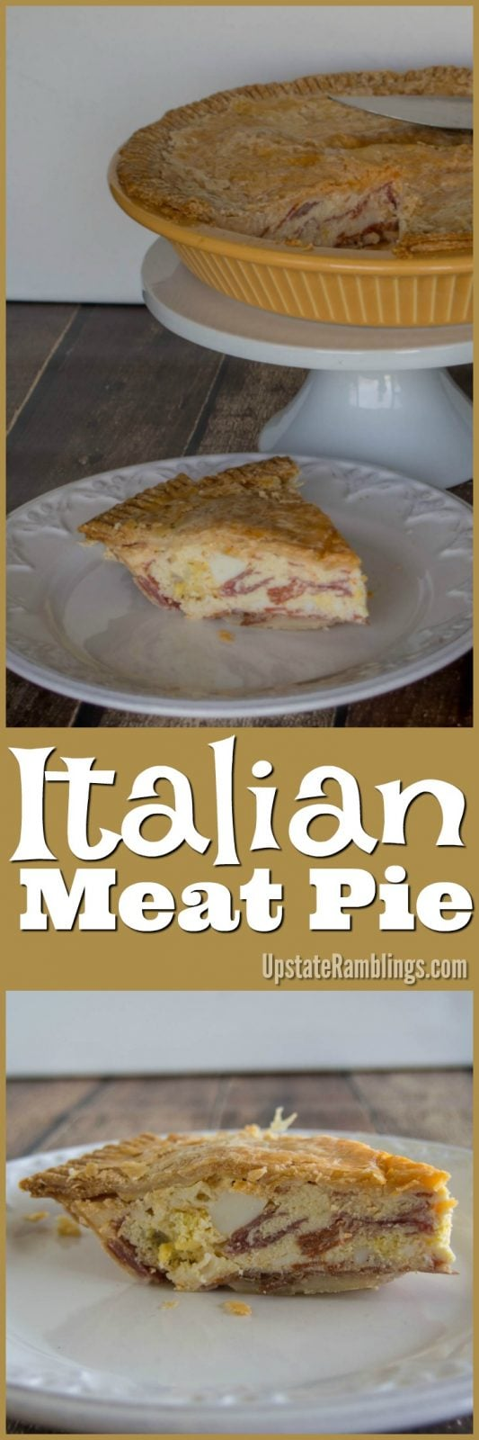 Italian Meat Pie - make this traditional Italian dish featuring proscuitto, sopresseta, pepperoni, sausage, cheese and eggs all baked into a savory pie! This recipe for Easter Meat Pie is perfect for your Easter breakfast or brunch. #Easter #Easterrecipes #Easterbrunch #Meatpie #Brunch