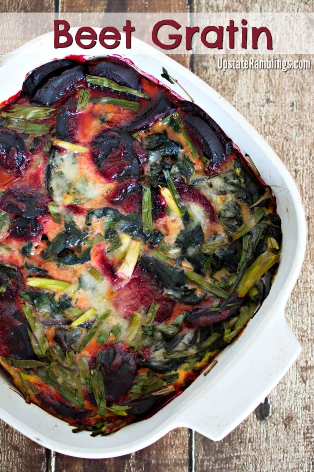 Beet Gratin - a healthy summer casserole