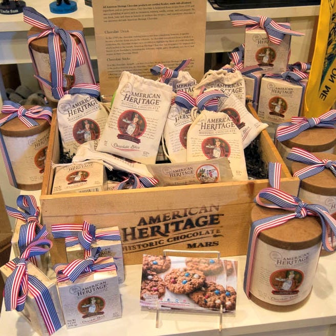American Heritage Chocolate Display