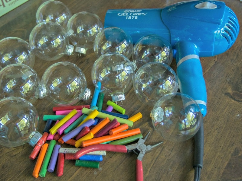 Supplies for Melted Crayon ornaments