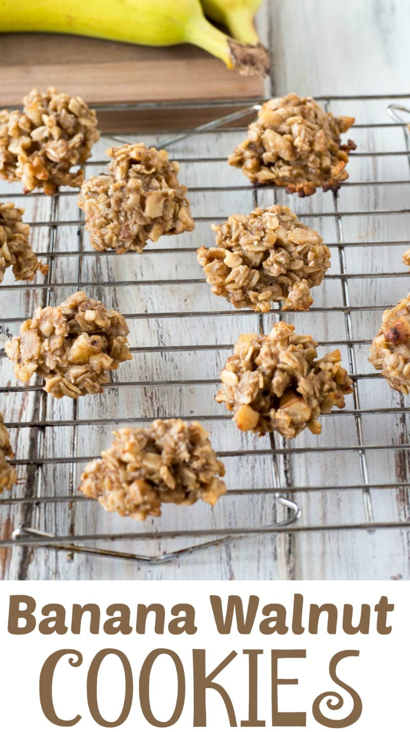 Banana Walnut Cookies - Dairy Free and Gluten free these chewy cookies are a delicious treat that tastes like banana bread