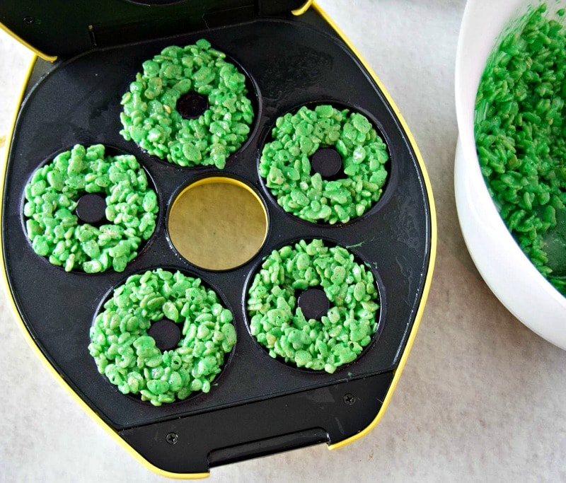 Using a donut maker for Rice Krispie treats