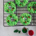 Holiday Wreath Rice Krispies Treats