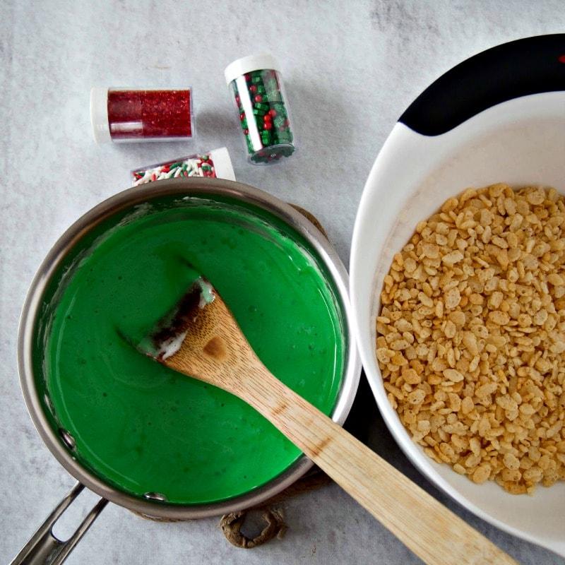 Making Rice krispie treats