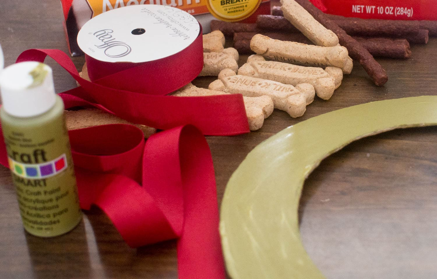 Supplies for Dog Treat Wreath