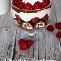 Chocolate Raspberry Ho Ho Trifle