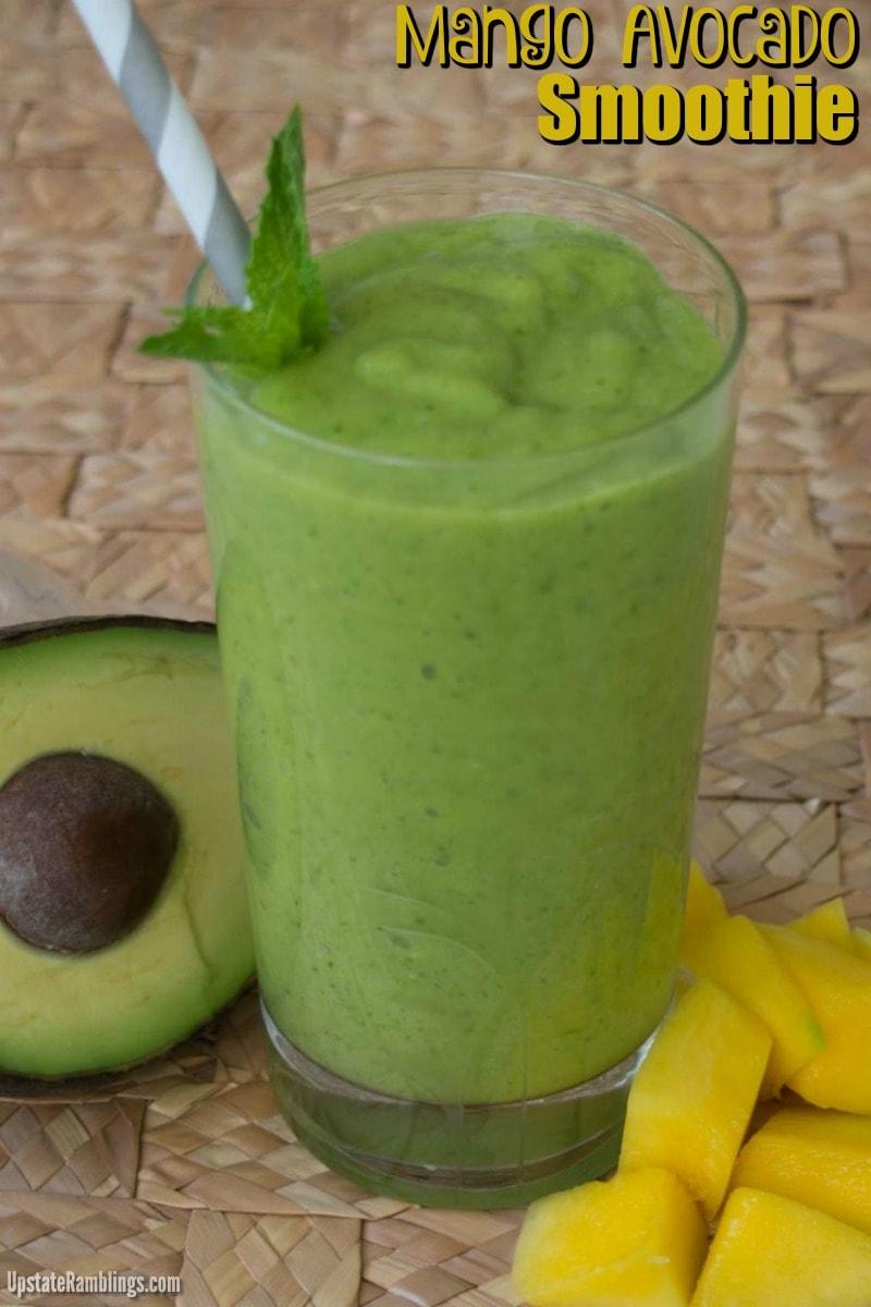 Mango Avocado Smoothie - An easy dairy free green smoothie
