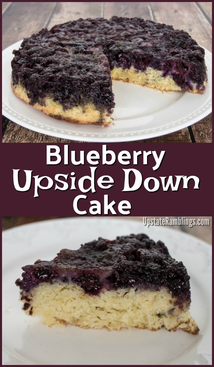 Blueberry Upside Down Cake - This blueberry dessert is an easy cake to make and is covered with caramelized blueberries.