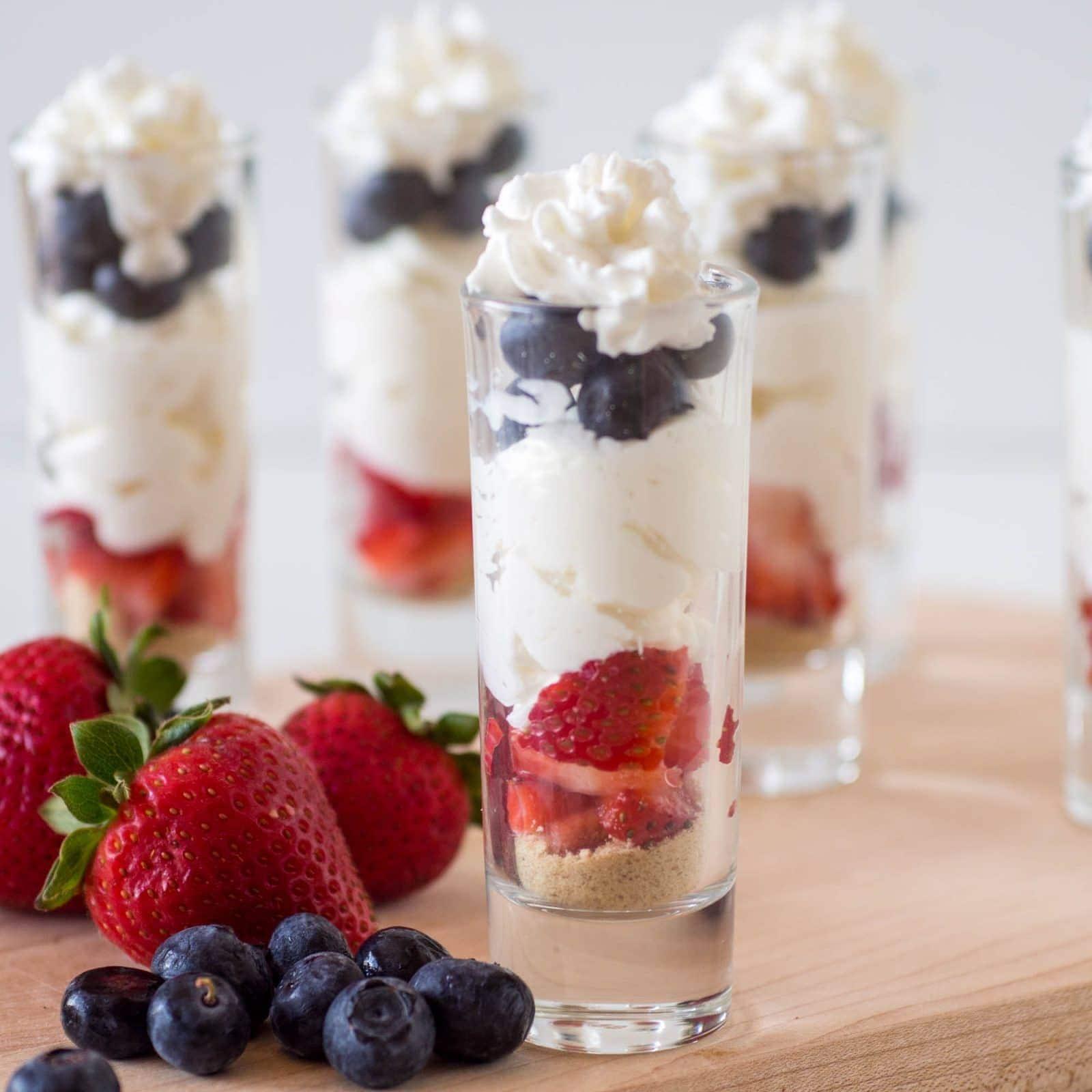 Easy 4th of July Dessert - no bake