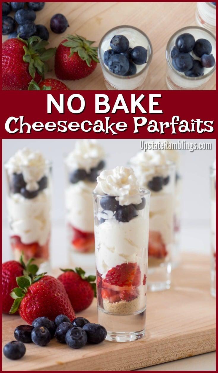 No Bake Patriotic Cheesecake Parfaits
