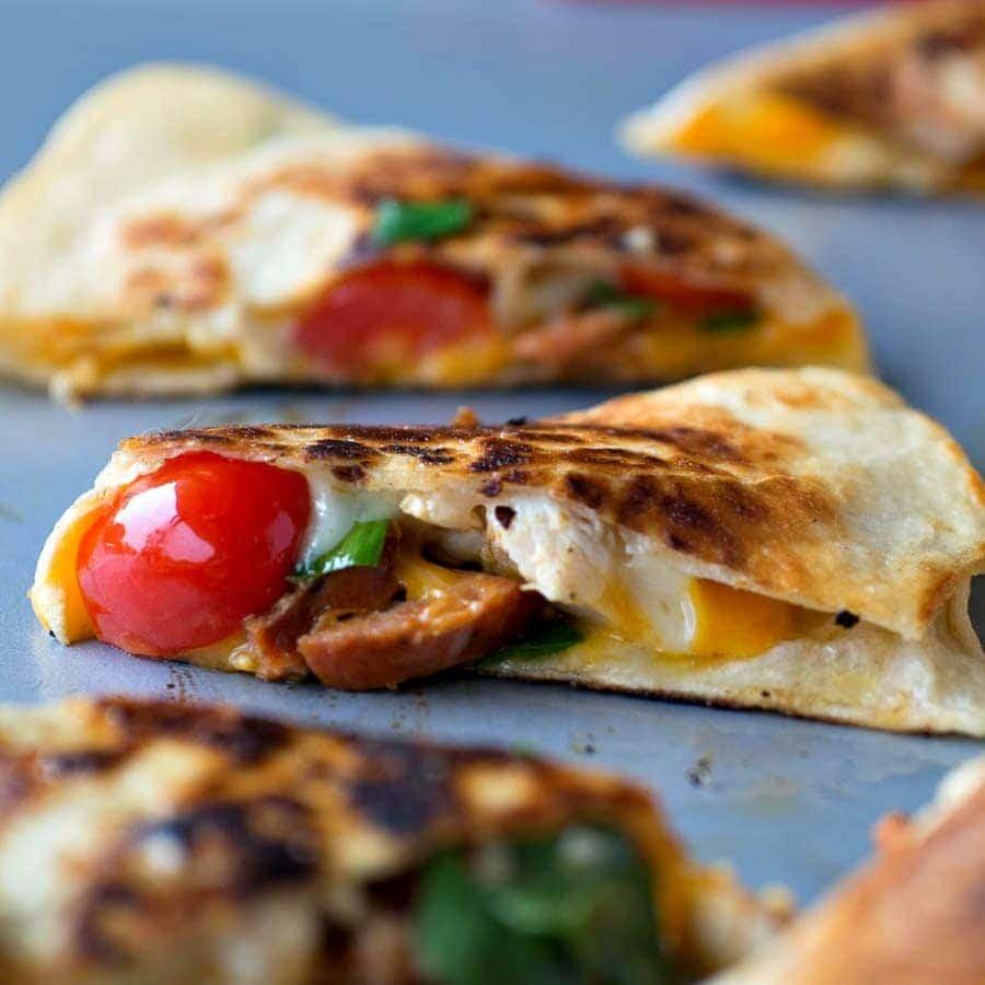 Chicken & Chorizo Quesadillas