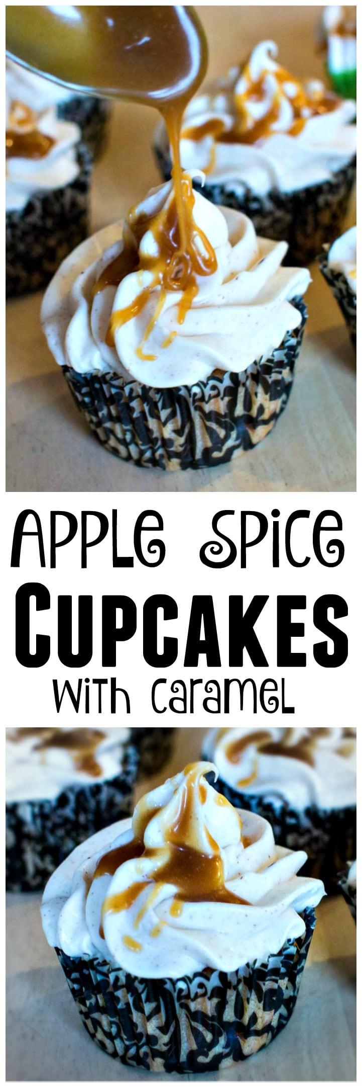 Apple Spice Cupcakes with Caramel Sauce | Caramel Apple Cupcakes | Spiced Apple Cupcakes | Caramel Sauce | Carmel Sauce | Gooey Caramel Cupcakes
