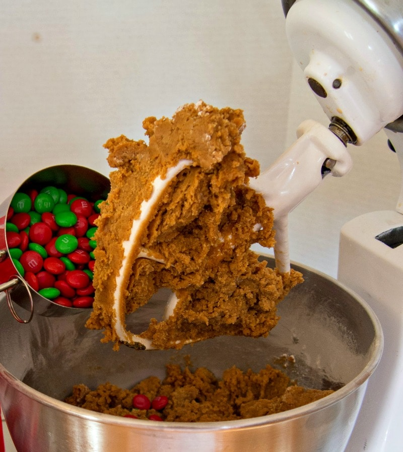 Making the holiday gingerbread bars