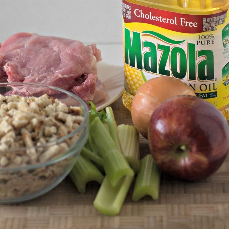 Ingredients for cast iron skillet pork chops