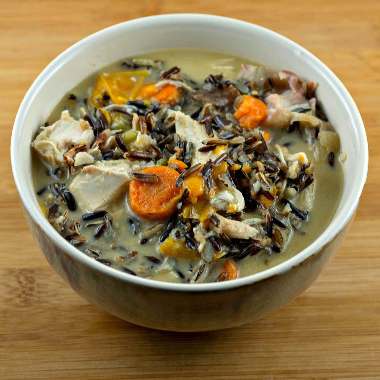Instant Pot Turkey Soup with Wild Rice