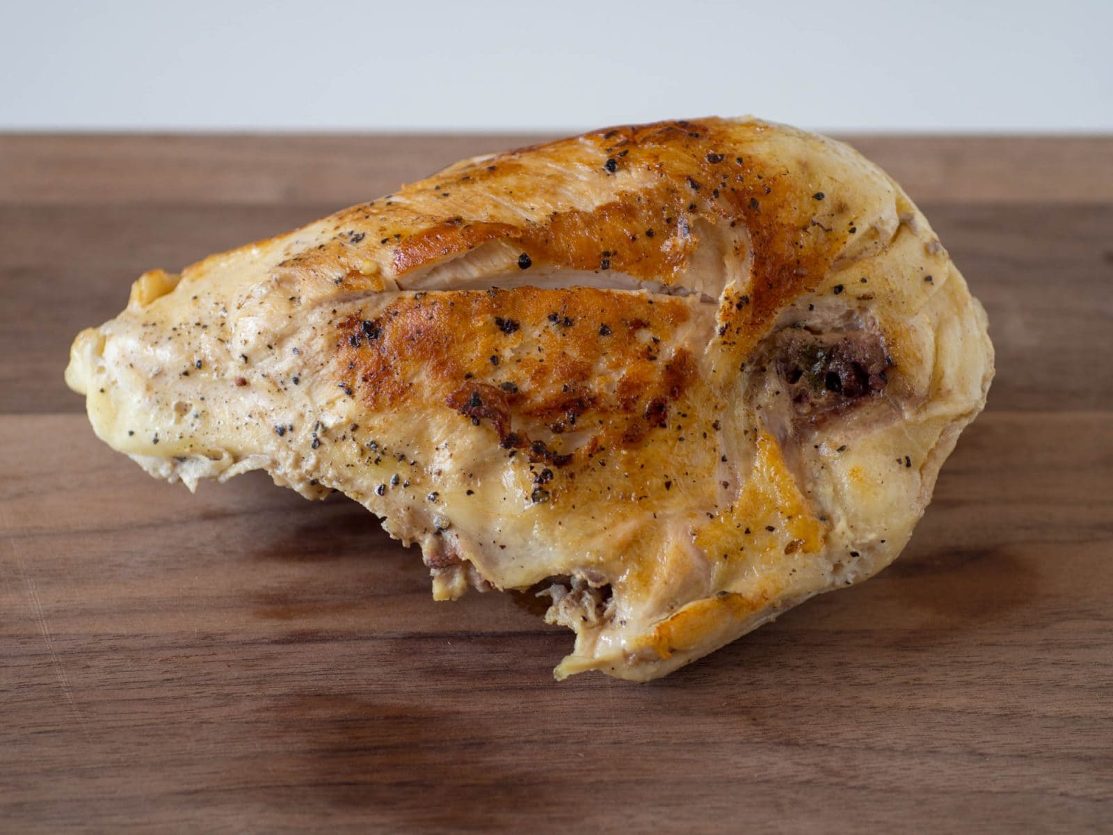 Nicely browned sous-vide chicken breast