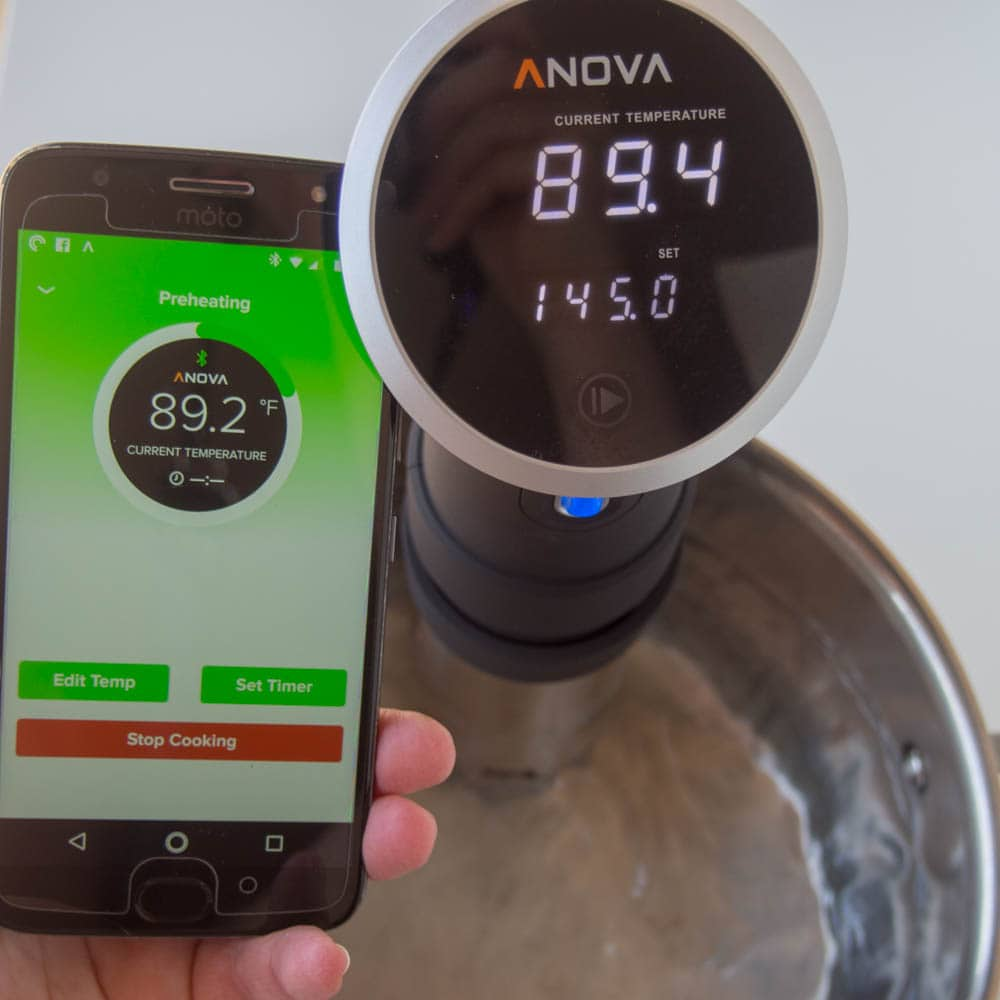 Setting up the Sous Vide Cooker