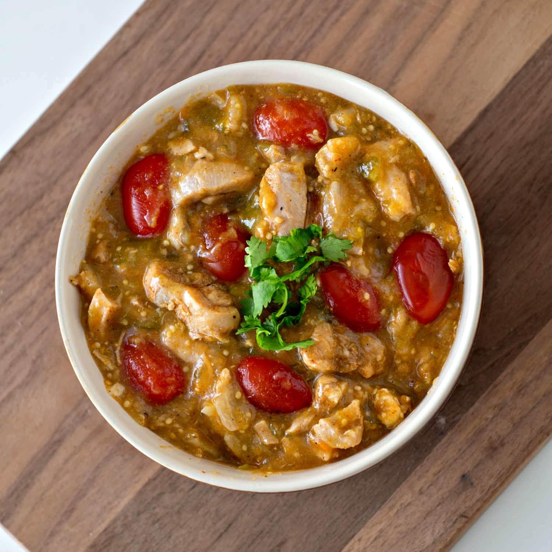 Tomatillo Chicken Chili in the Instant Pot