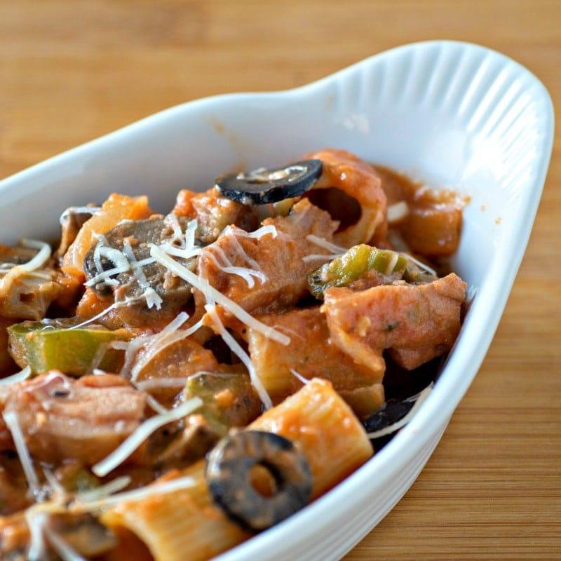 Utica Riggies - Chicken Riggies - a spicy and creamy chicken pasta dish with rigatoni