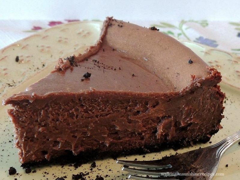 Chocolate Bliss Cheesecake - a traditional homemade chocolate cheesecake