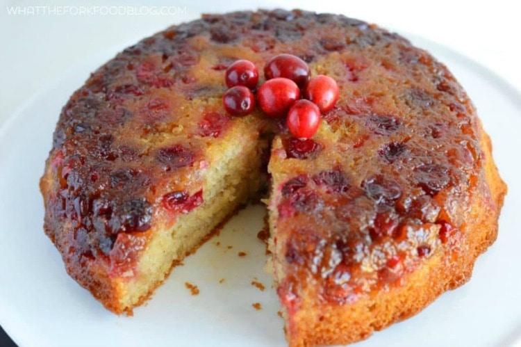 Cranberry Upside Down Cake - Fall Cake Ideas