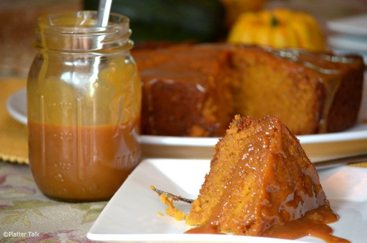 Sticky Caramel Pumpkin Cake from the Slow Cooker