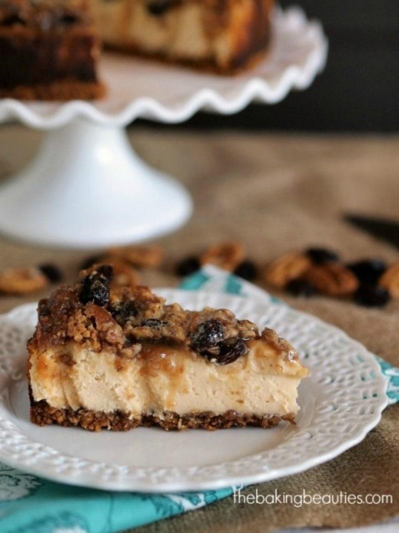Gluten Free Maple Butter Tart Cheesecake