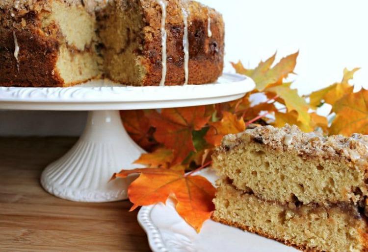 Maple walnut Coffee Cake - Fall Cake Flavors