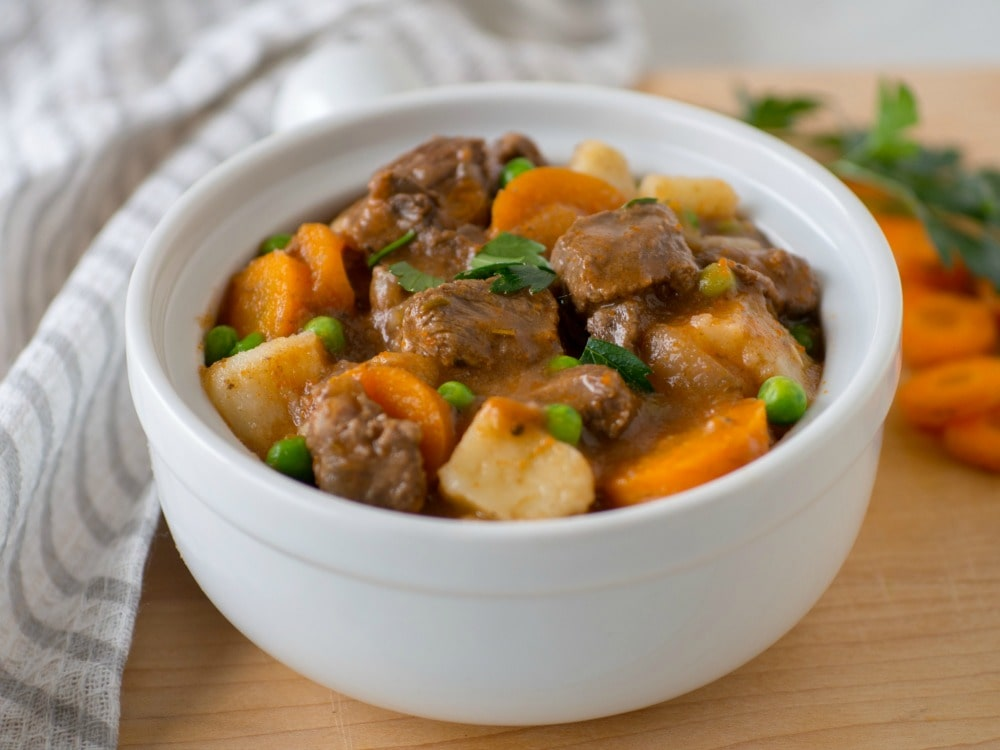 Pressure Cooker Beef Stew with Apple Cider
