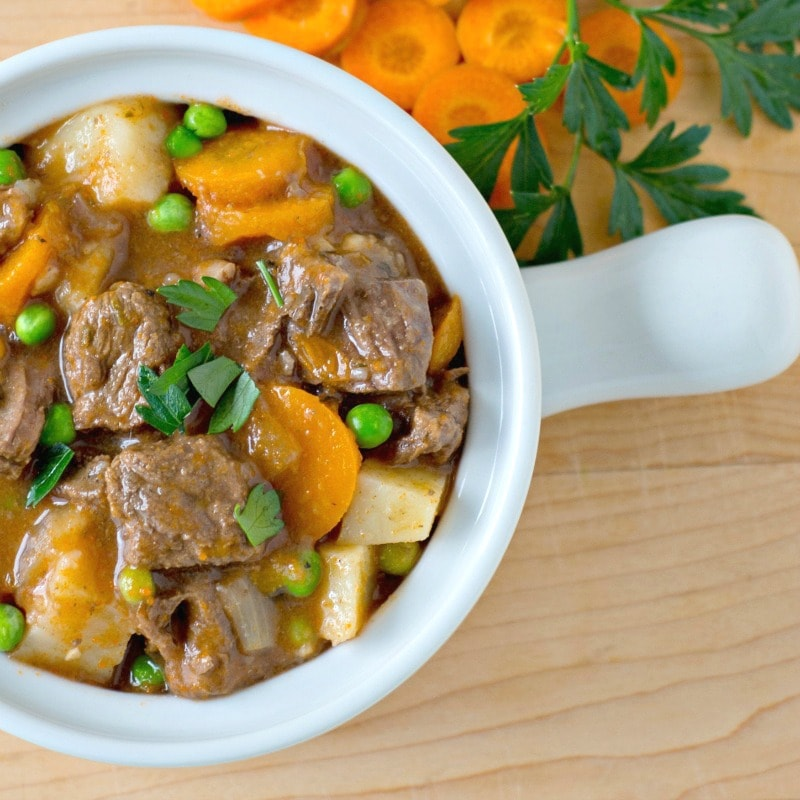 Instant Pot Beef Stew made with Apple Cider