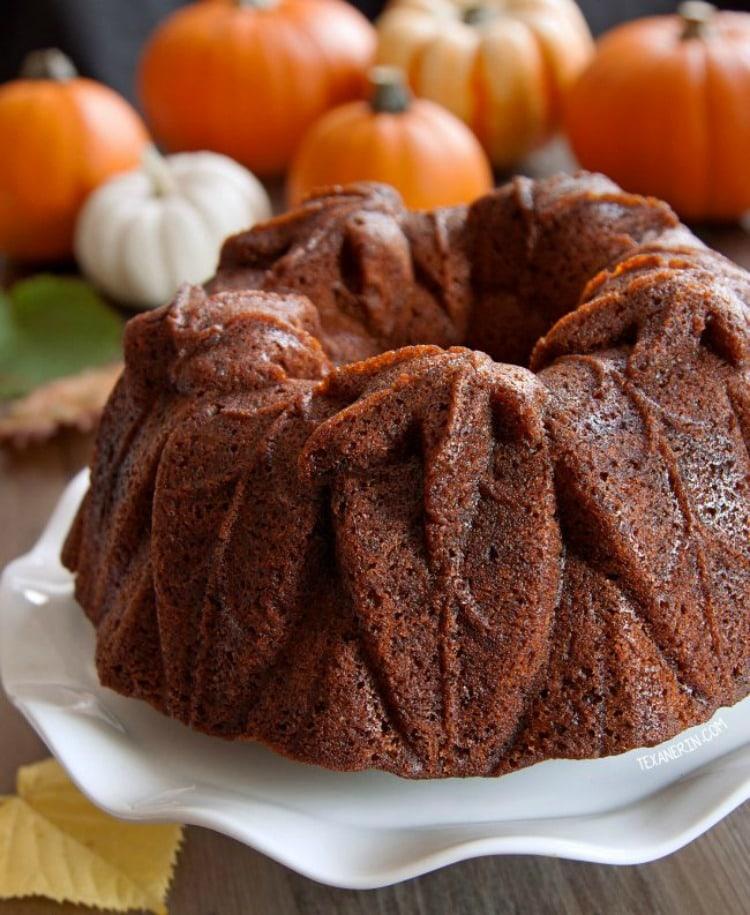 Bourbon Pumpkin Cake - Fall Cake Recipes