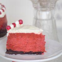 Instant Pot Red Velvet Cheesecake