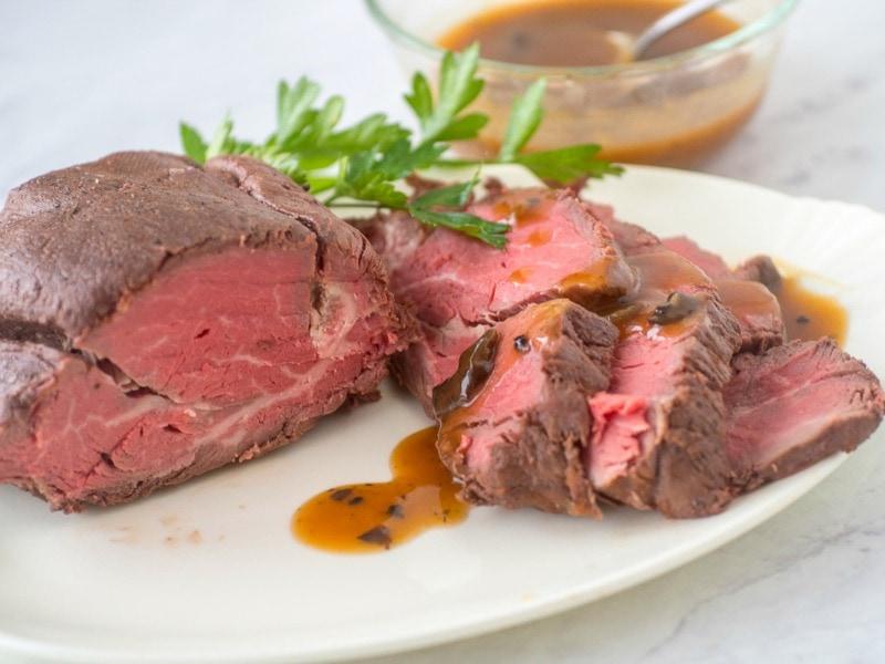 Beef Tenderloin recipe with mushroom sauce