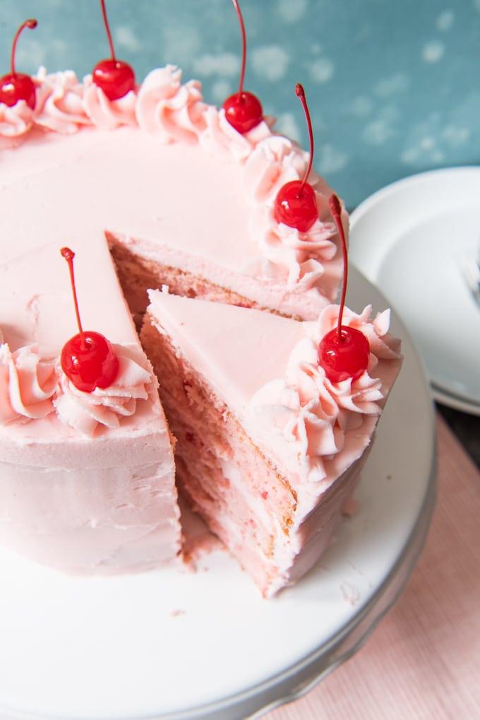 Cherry Chip Layer Cake