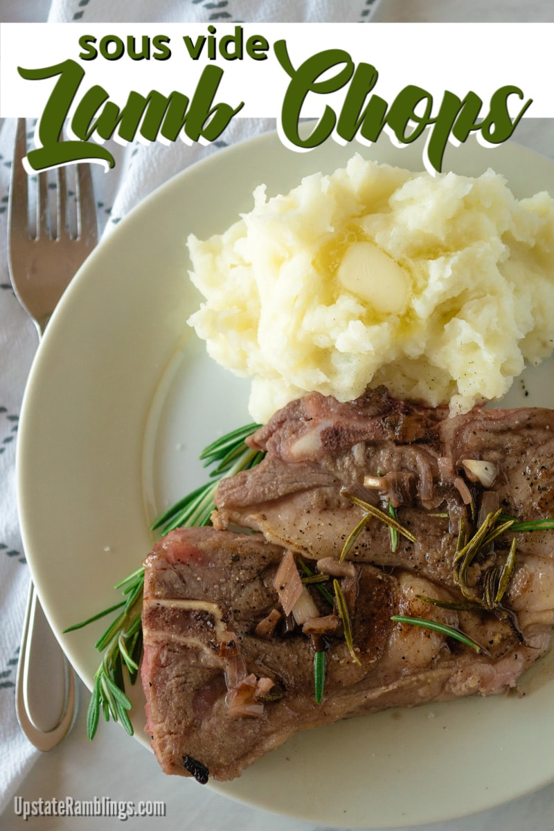 Sous vide lamb chops are cooked tender and flavorful every time, which makes them excellent for serving to family and friends. Sous vide cooking is ideal for perfectly cooking these delicate lamb shoulder chops. #sousvide #lambchops #lambshoulderchops