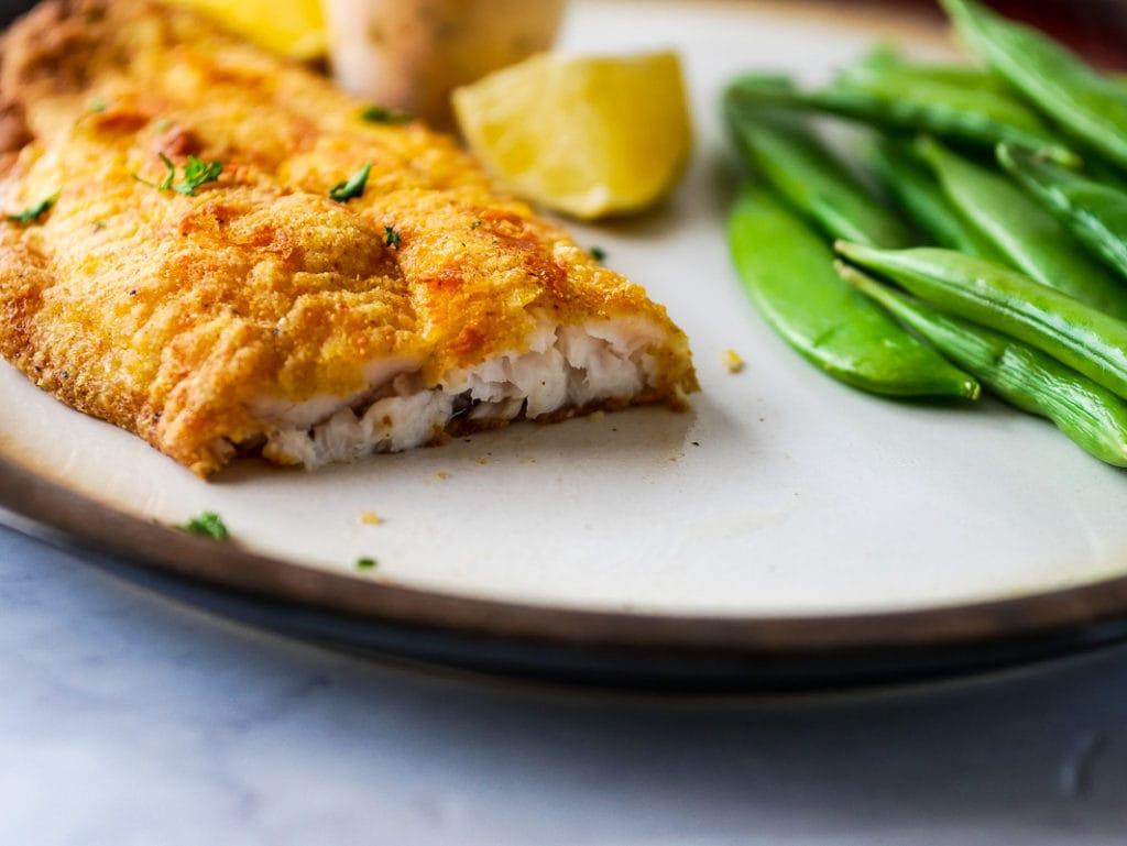 air fryer cajun catfish on a plate