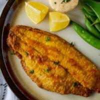 Air Fryer Catfish with Spicy Tartar Sauce