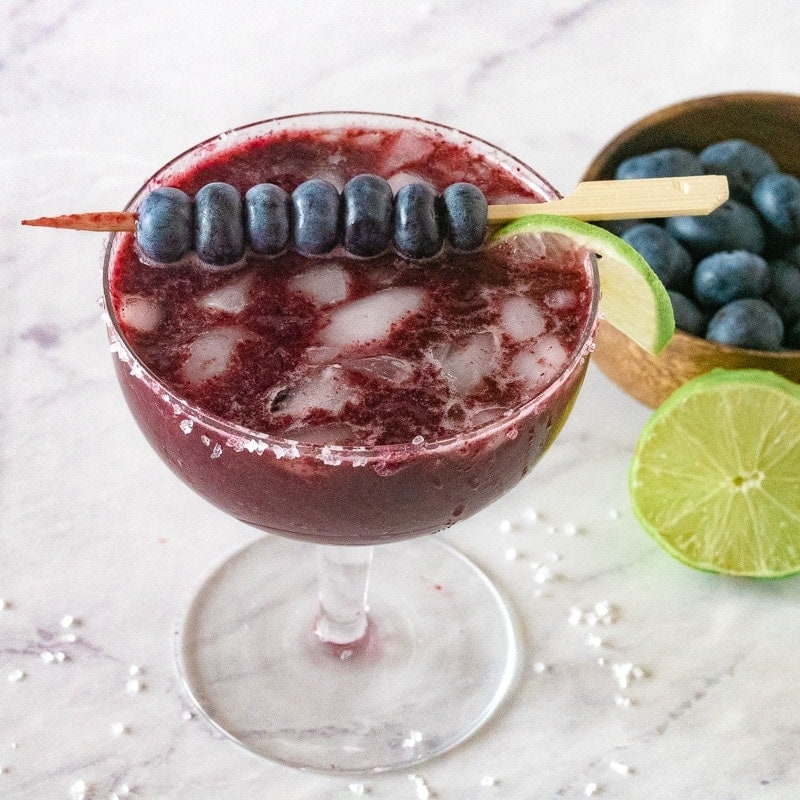 blueberry margarita from the top