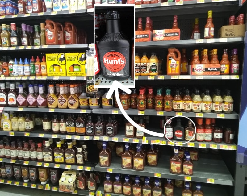 In store photo for Hunt's BBQ sauce