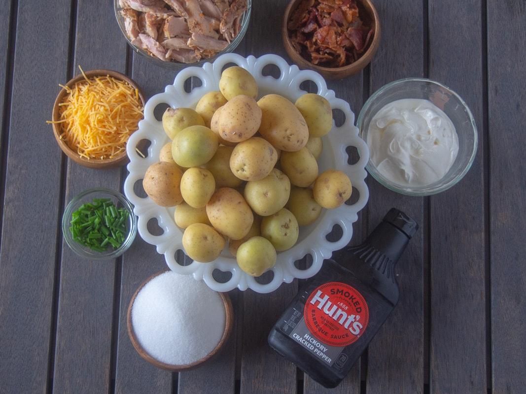 BBQ loaded salt potatoe ingredients