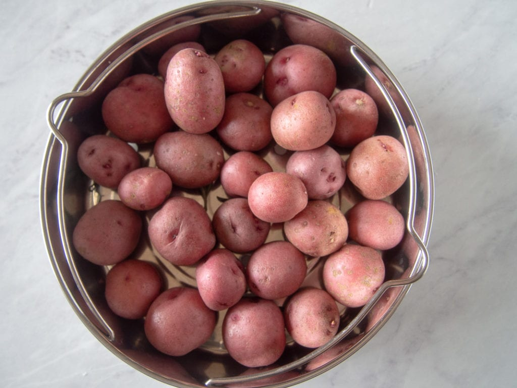 red potatoes for adding to instant pot