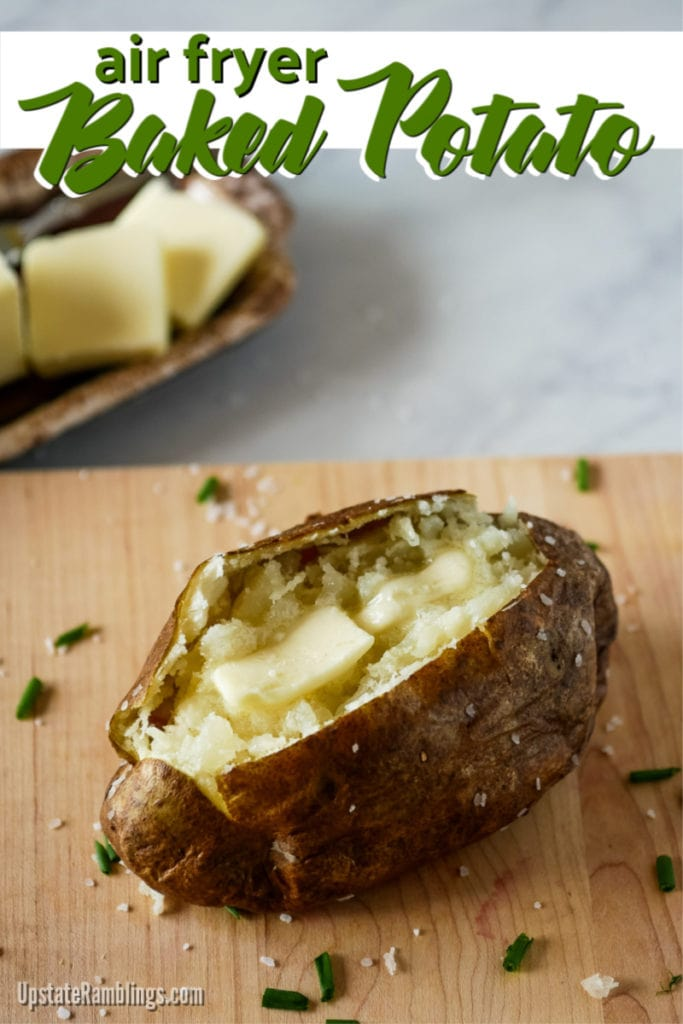 air fryer baked potato with butter