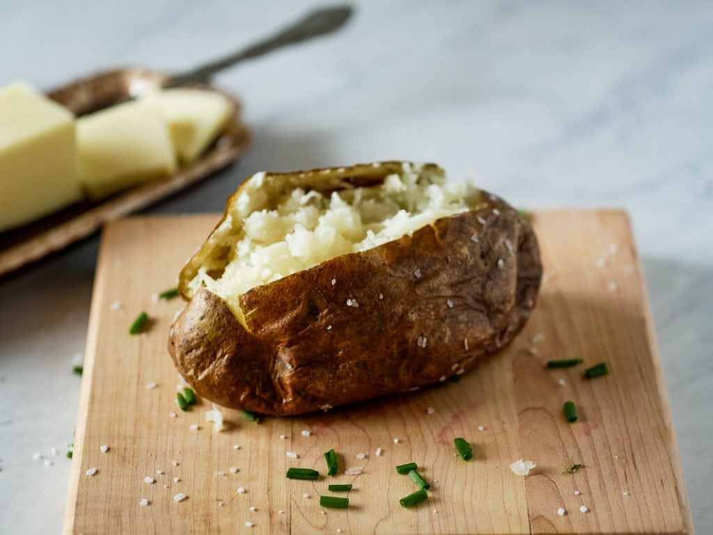 Baked potatoes made in the air fryer