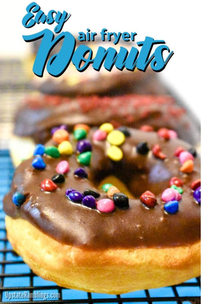 Air fryer donuts with chocolate glaze - easy dessert