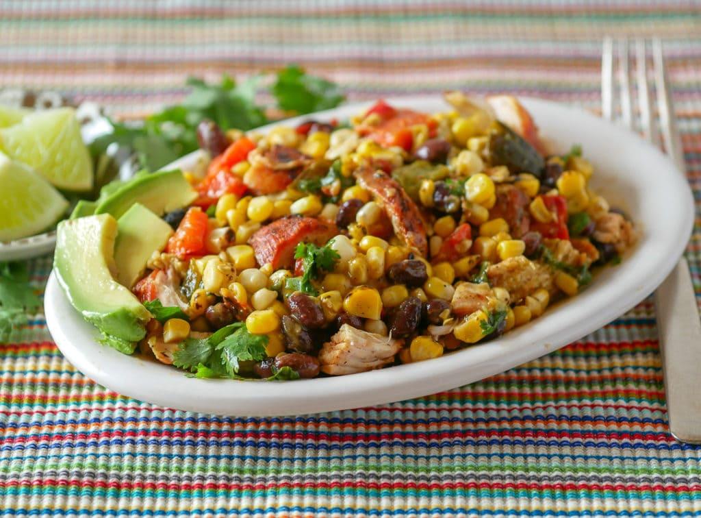 southwestern style grilled chicken salad