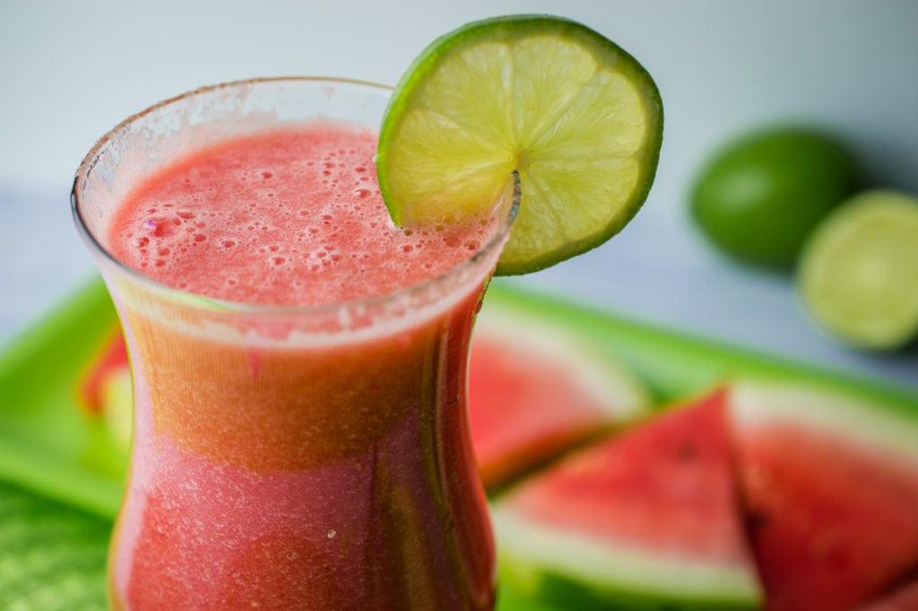watermelon and vodka drink