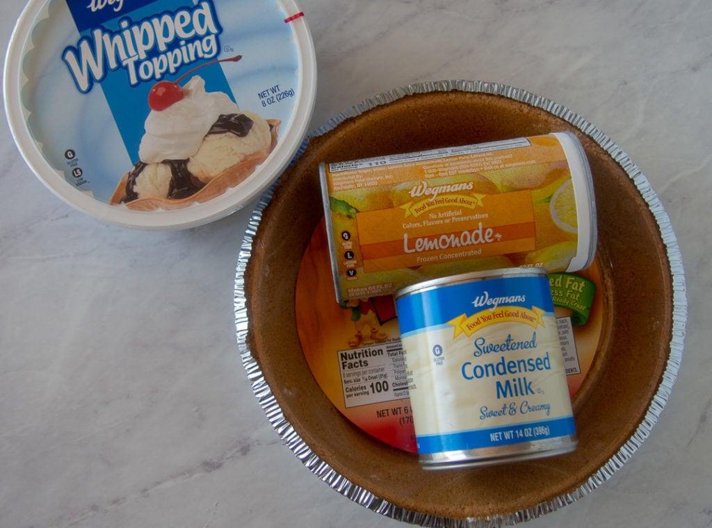 no bake frozen lemonade pie ingredients