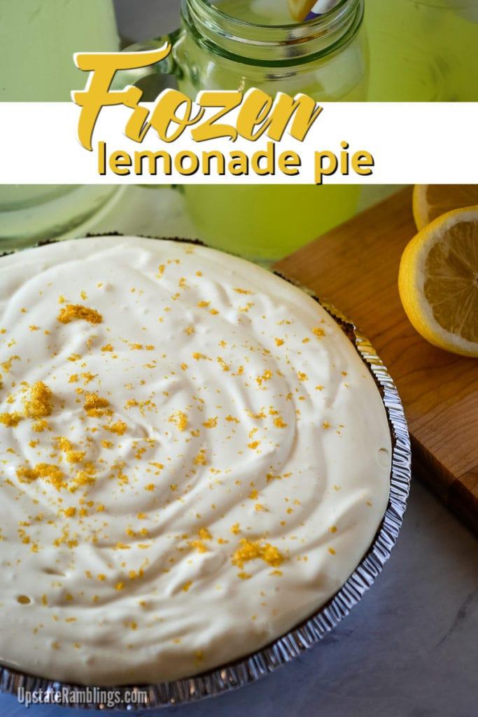 frozen lemonade pie - a no bake dessert