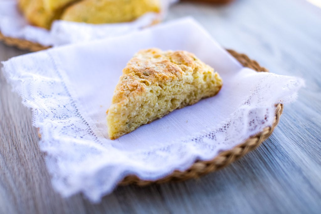 savory scones on a plate