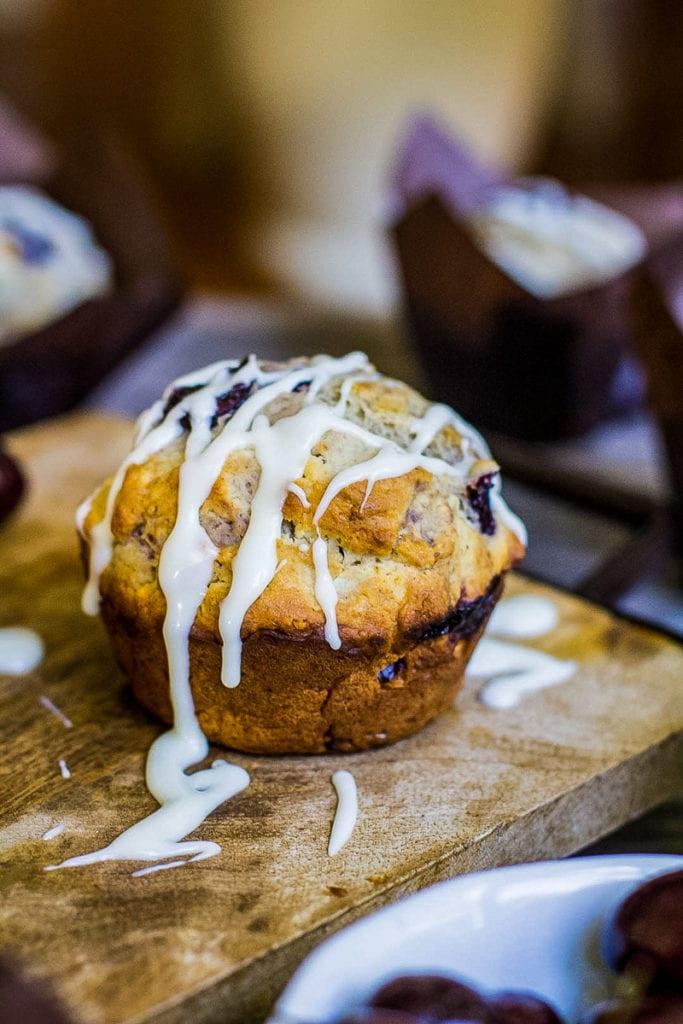 cherry muffin for breakfast treat